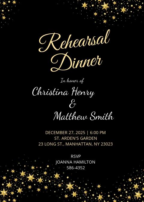 Free Wedding Rehearsal Dinner Invitation Template