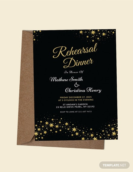 free wedding rehearsal dinner invitation template download 344