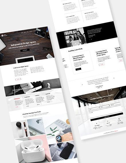 Graphic Design Agency Website Format