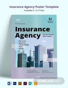 Insurance Agency Poster Template