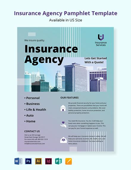 Insurance Agency Pamphlet Template