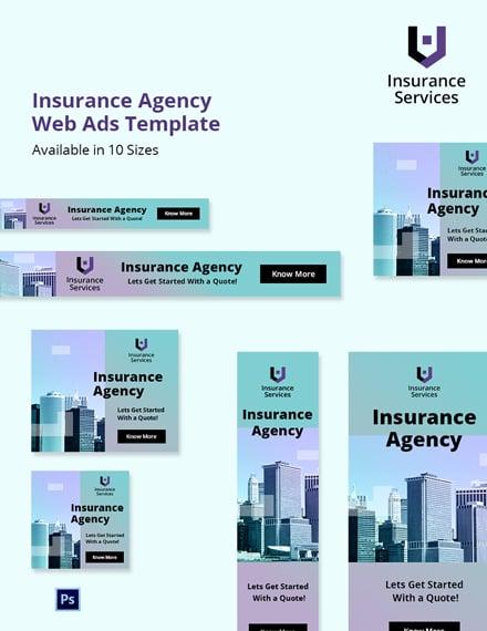 Free Insurance Agency Web Ads Template