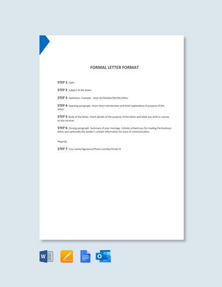 Free Formal Letter Format