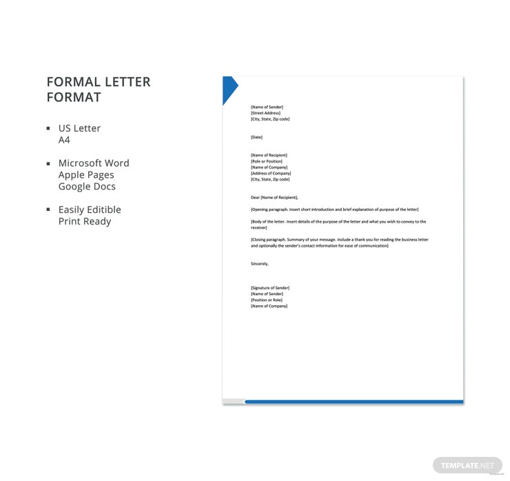 Simple Formal Letter Format from images.template.net
