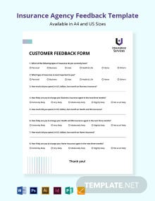 Insurance Agency Feedback Form Template