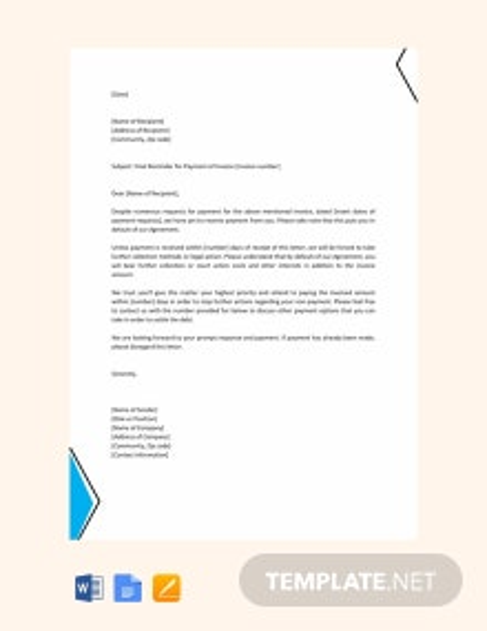 Free Final Reminder Letter Template
