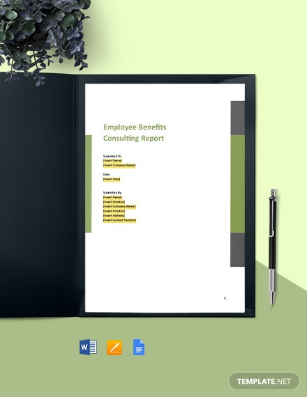 Corporate Consulting Report Template