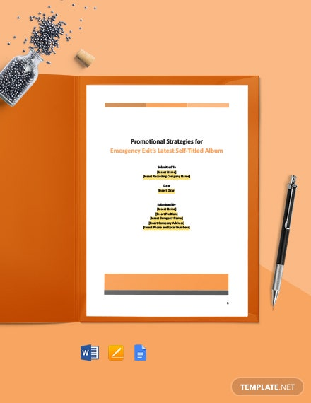 Consulting Strategy Report Template