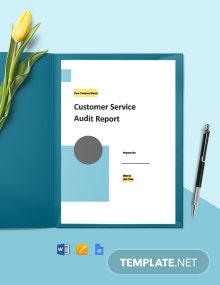 Customer Service Audit Report Template