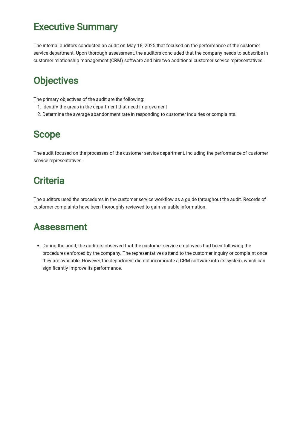 Customer Service Audit Report Template 1.jpe