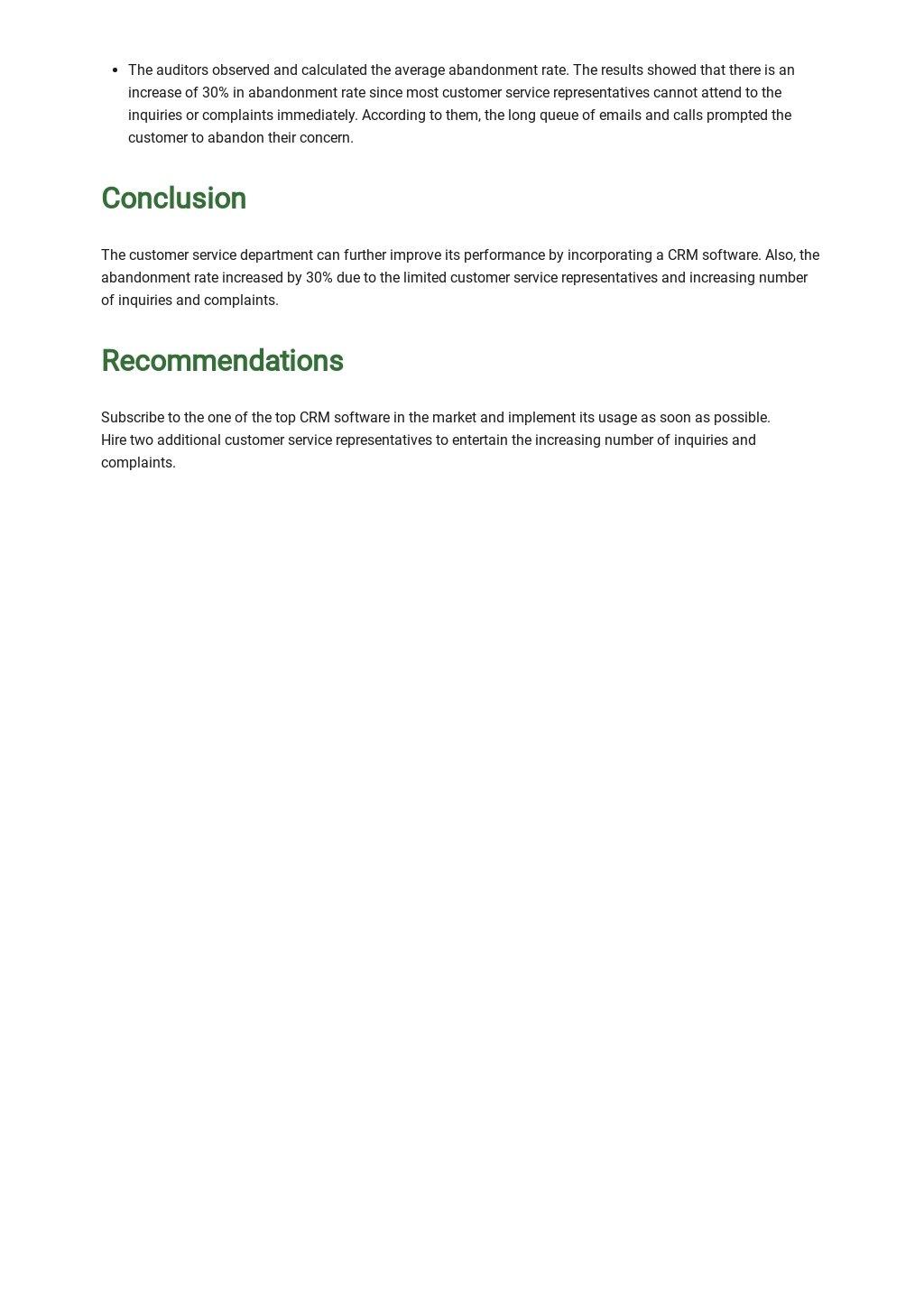 Customer Service Audit Report Template 2.jpe