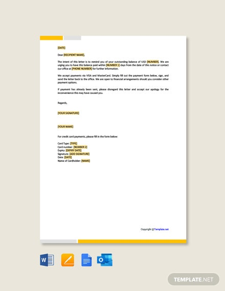 Free Reminder Letter Format