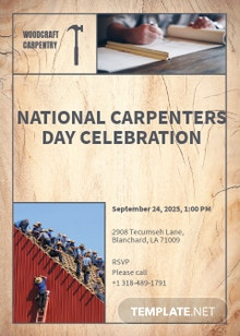 Carpenter Invitation Template