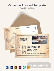 Carpenter Postcard Template