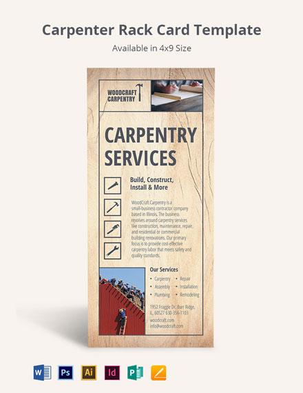 Carpenter Rack Card Template