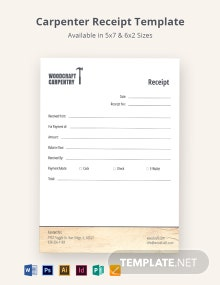 Carpenter Receipt Template