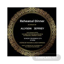 Elegant Rehearsal Dinner Invitation Template