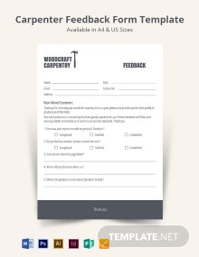 Carpenter Feedback Form Template