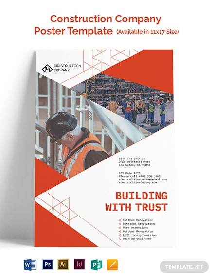 Construction Company Poster Template