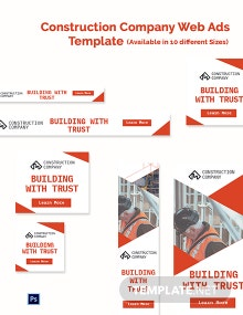 Construction Company Web Ads Template