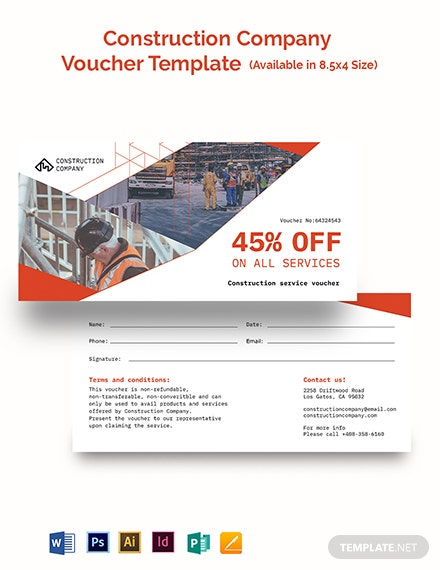 Construction Company Voucher Template