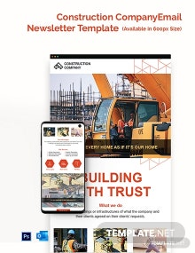 Construction Company Email Newsletter Template