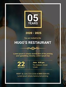 Restaurant Opening Invitation Template