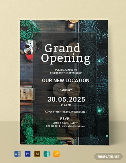 Free Restaurant Grand Opening Invitation Template
