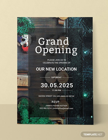 free restaurant grand opening invitation template download 344