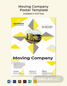Moving Company Poster Template