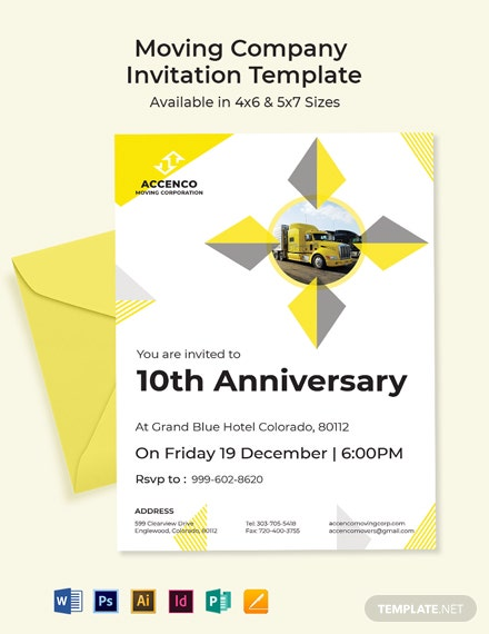 Moving Company Invitation Template