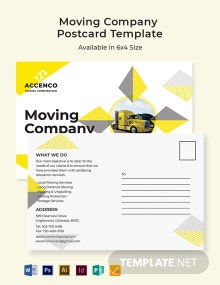 Moving Company Postcard Template