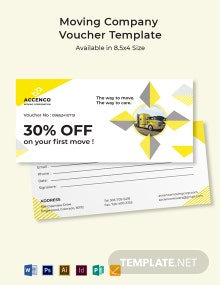 Moving Company Voucher Template