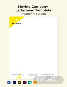 Moving Company Letterhead Template