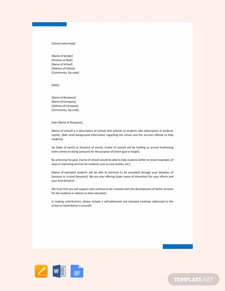 Free Letter of Sponsorship for Student Template