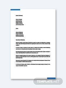 Letter of Sponsorship for Student Template
