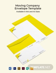 Moving Company Envelope Template