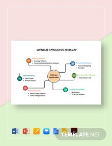 Software Application Mind Map Template