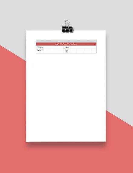 HR Internal Investigation Report Format
