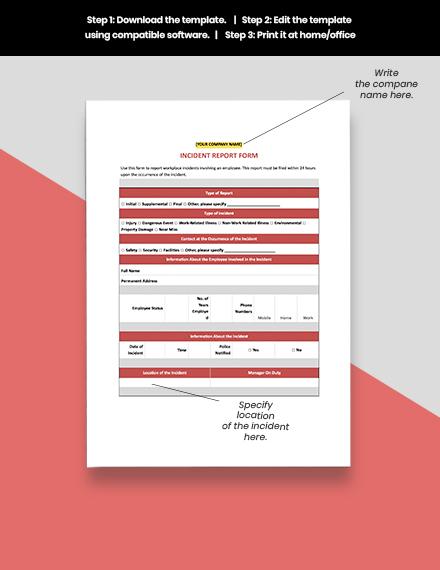 Sample HR Internal Investigation Report Template