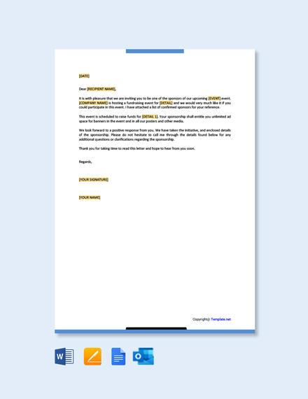 Free Sponsorship Letter Example