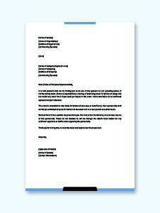 Sponsorship Letter Example