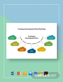 Training & Development Plan Mind Map Template