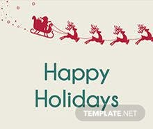 Holiday Tag Template