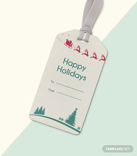 Free Holiday Tag Template