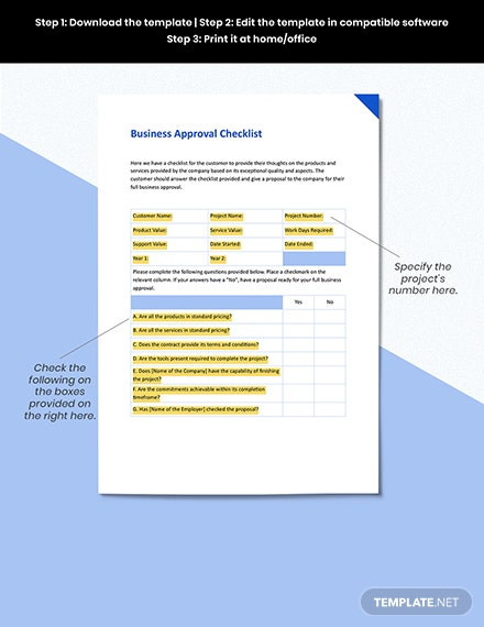 Business Approval Form Format
