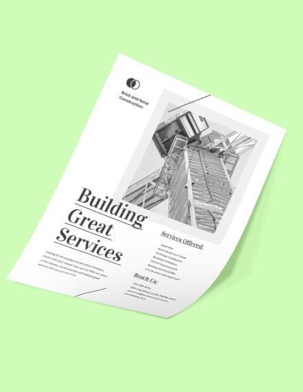 Elegant Construction Marketing Flyer Format
