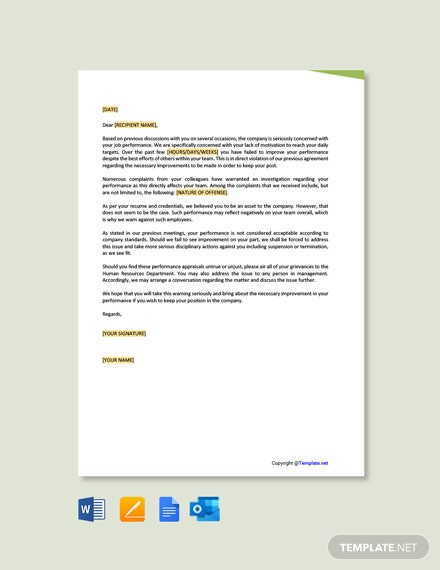 Free Business Warning Letter Template