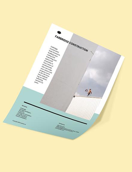 Free Minimalist Marketing Flyer Template Download