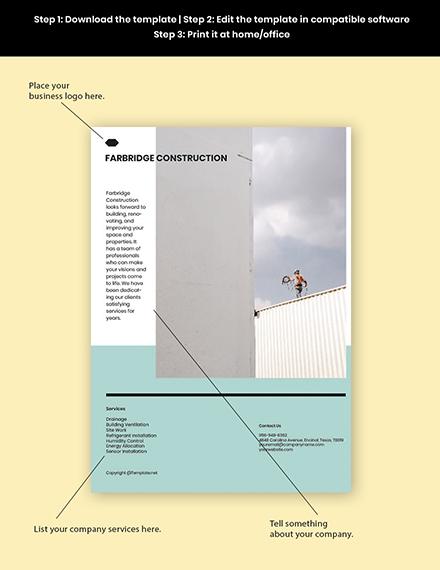 Free Minimalist Marketing Flyer Template Printable